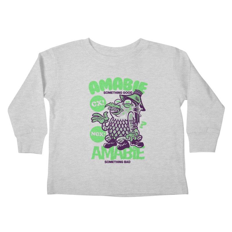 Amabie green Kids Toddler Longsleeve T-Shirt by Gimetzco's Damaged Goods