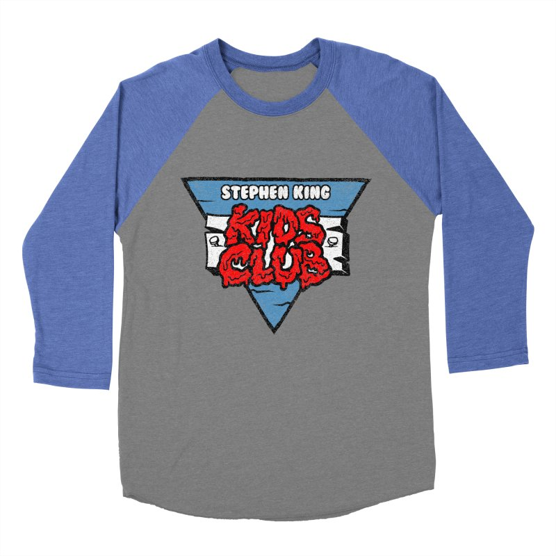 Stephen King Kids Club Men's Baseball Triblend T-Shirt by Gimetzco's Damaged Goods