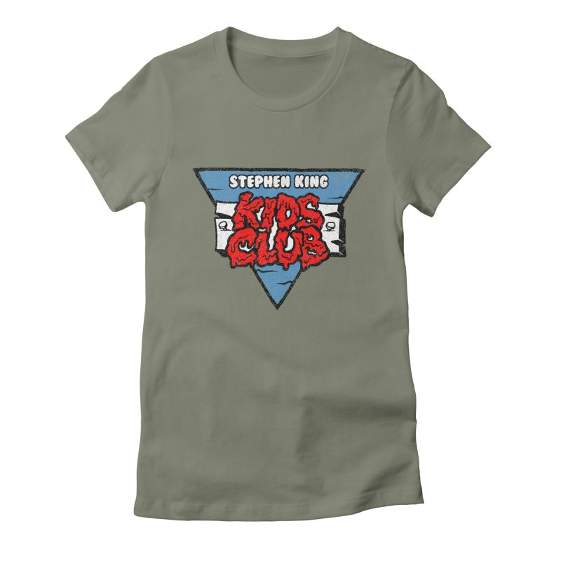 Stephen King Kids Club Women's Fitted T-Shirt by Gimetzco's Damaged Goods