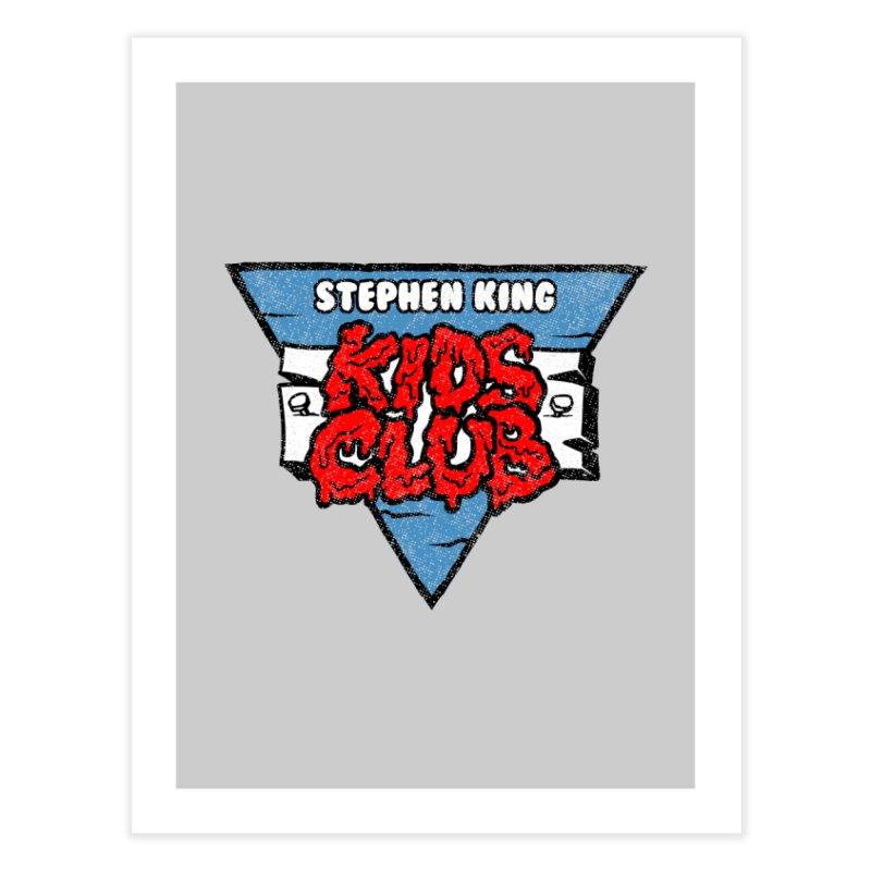 Stephen King Kids Club Home Fine Art Print by Gimetzco's Damaged Goods