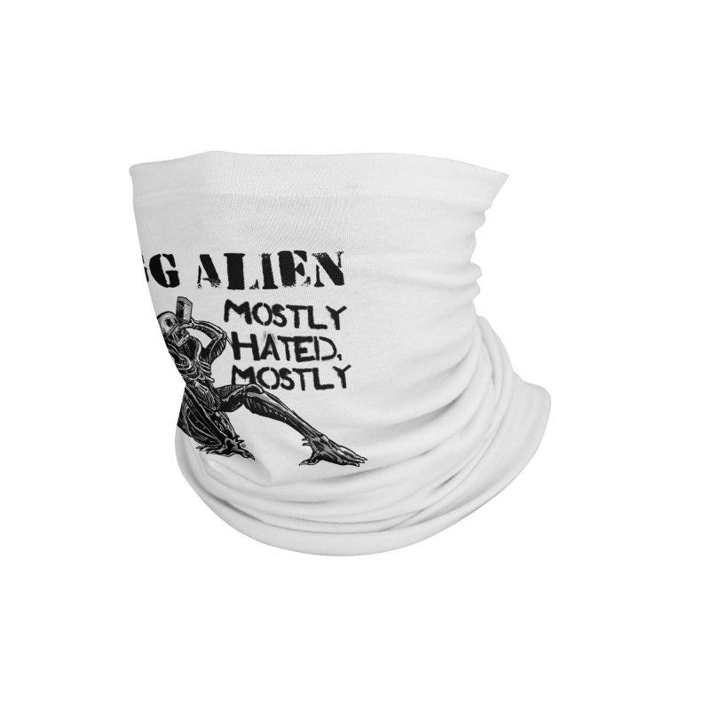GG ALIEN (light) Accessories Neck Gaiter by Gimetzco's Damaged Goods