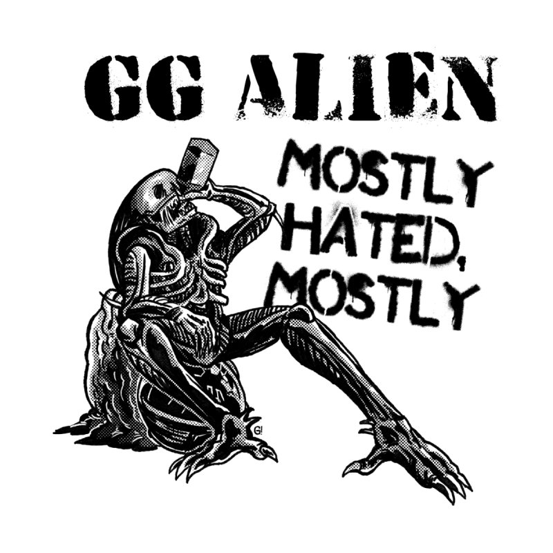 GG ALIEN (light) Men's T-Shirt by Gimetzco's Damaged Goods
