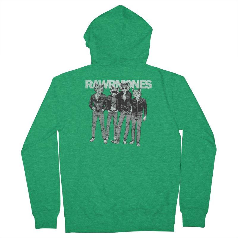 Rawrmones (original) Men's Zip-Up Hoody by Gimetzco's Damaged Goods