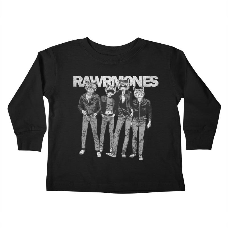 Rawrmones (original) Kids Toddler Longsleeve T-Shirt by Gimetzco's Damaged Goods