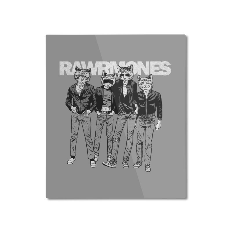 Rawrmones (original) Home Mounted Aluminum Print by Gimetzco's Damaged Goods