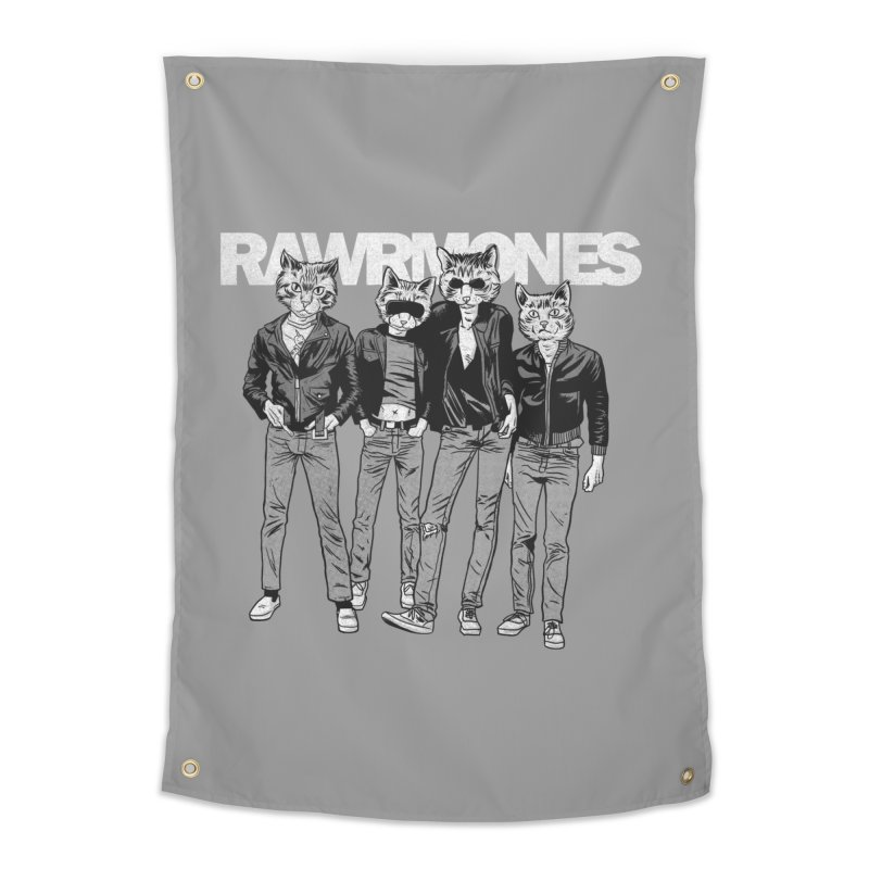 Rawrmones (original) Home Tapestry by Gimetzco's Damaged Goods