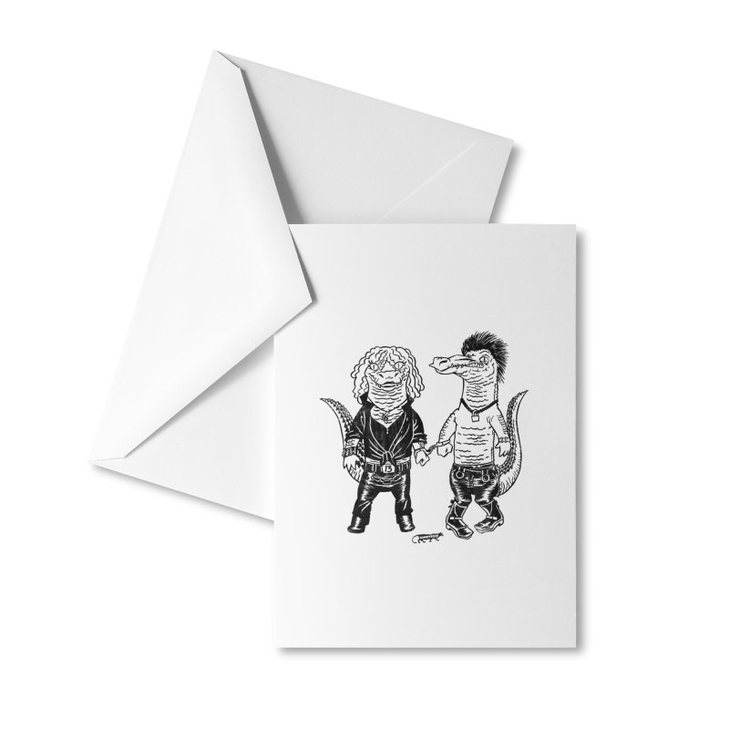 Pun Croc Accessories Greeting Card by Gimetzco's Damaged Goods