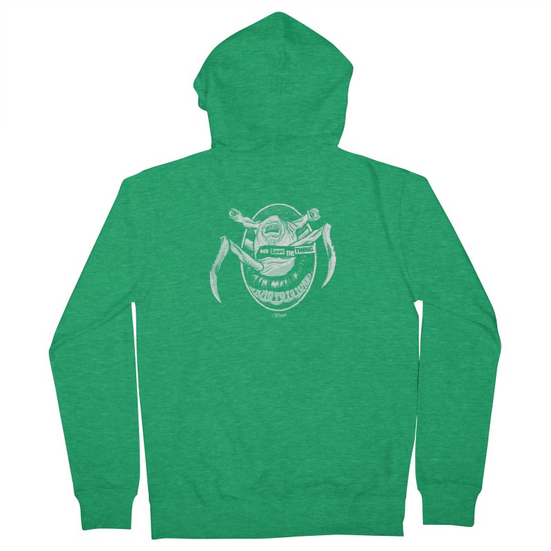 God save the THING Men's Zip-Up Hoody by Gimetzco's Damaged Goods