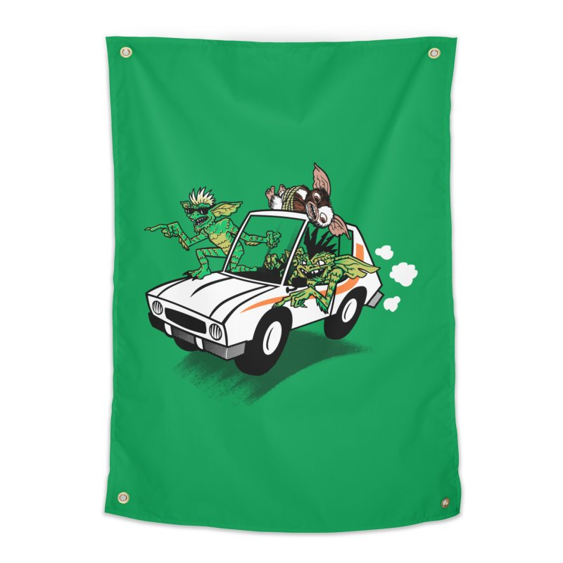 Gremlins in a gremlin Home Tapestry by Gimetzco's Damaged Goods