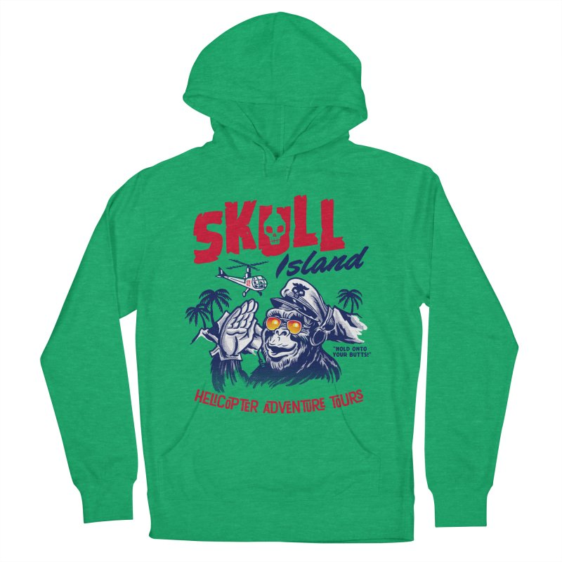 Skull Island Helicopter Adventure Tours Men's Pullover Hoody by Gimetzco's Damaged Goods
