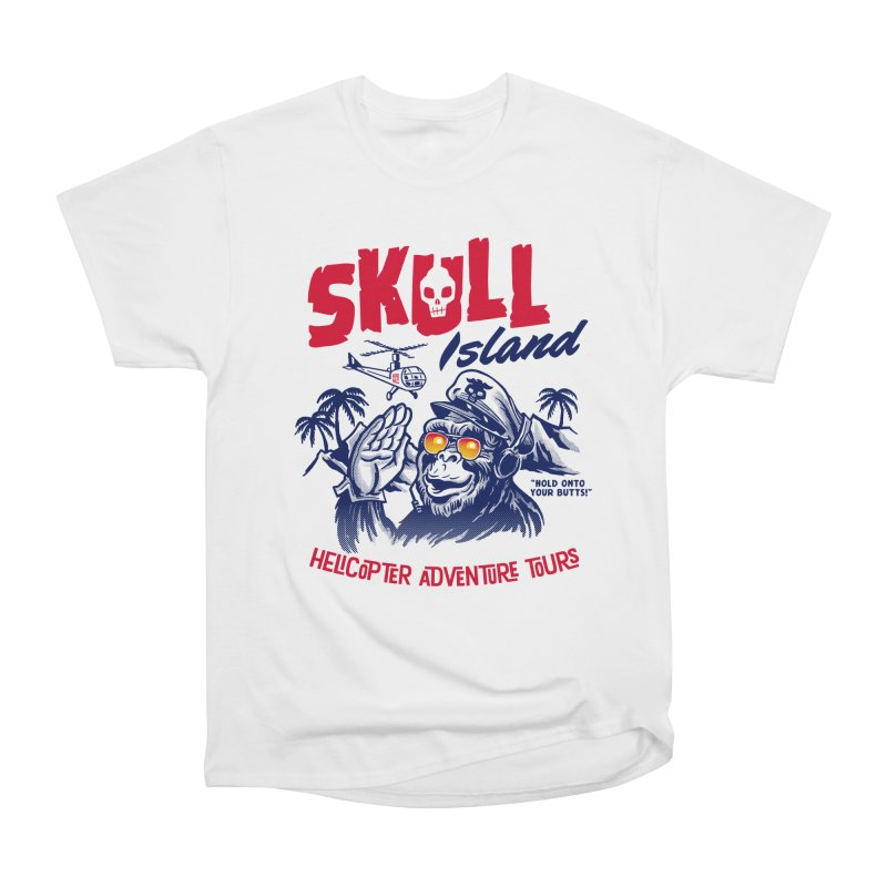 Skull Island Helicopter Adventure Tours Men's Classic T-Shirt by Gimetzco's Artist Shop