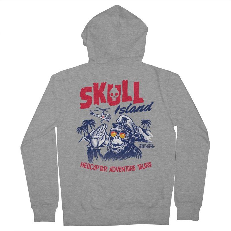 Skull Island Helicopter Adventure Tours Men's Zip-Up Hoody by Gimetzco's Damaged Goods