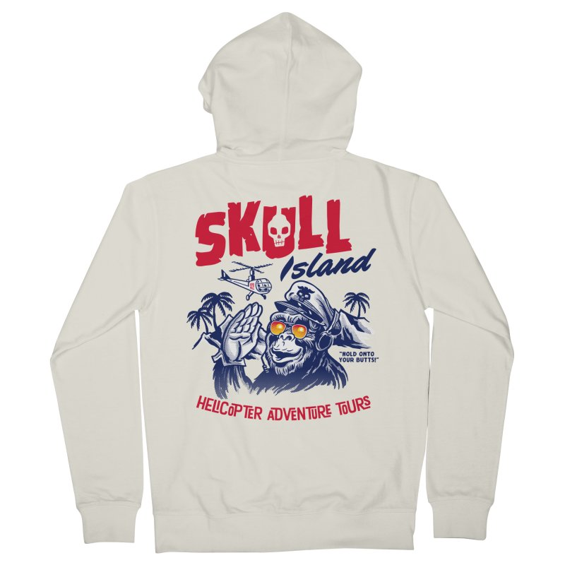 Skull Island Helicopter Adventure Tours Men's Zip-Up Hoody by Gimetzco's Artist Shop