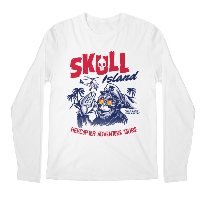 Skull Island Helicopter Adventure Tours Men's Longsleeve T-Shirt by Gimetzco's Artist Shop