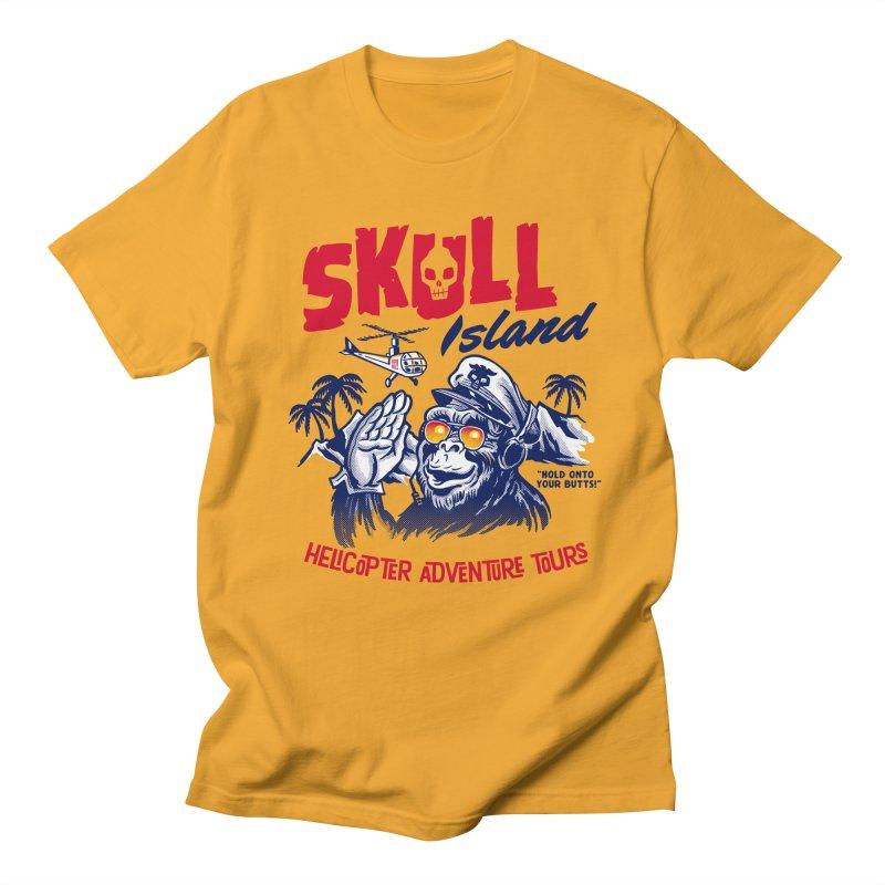 Skull Island Helicopter Adventure Tours Men's T-Shirt by Gimetzco's Artist Shop