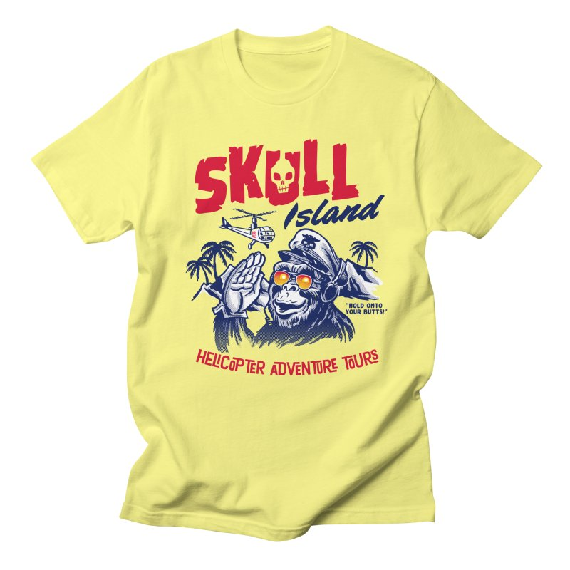 Skull Island Helicopter Adventure Tours Men's T-shirt by Gimetzco's Artist Shop