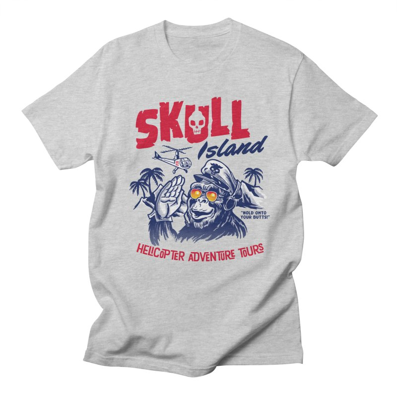 Skull Island Helicopter Adventure Tours Women's Unisex T-Shirt by Gimetzco's Damaged Goods