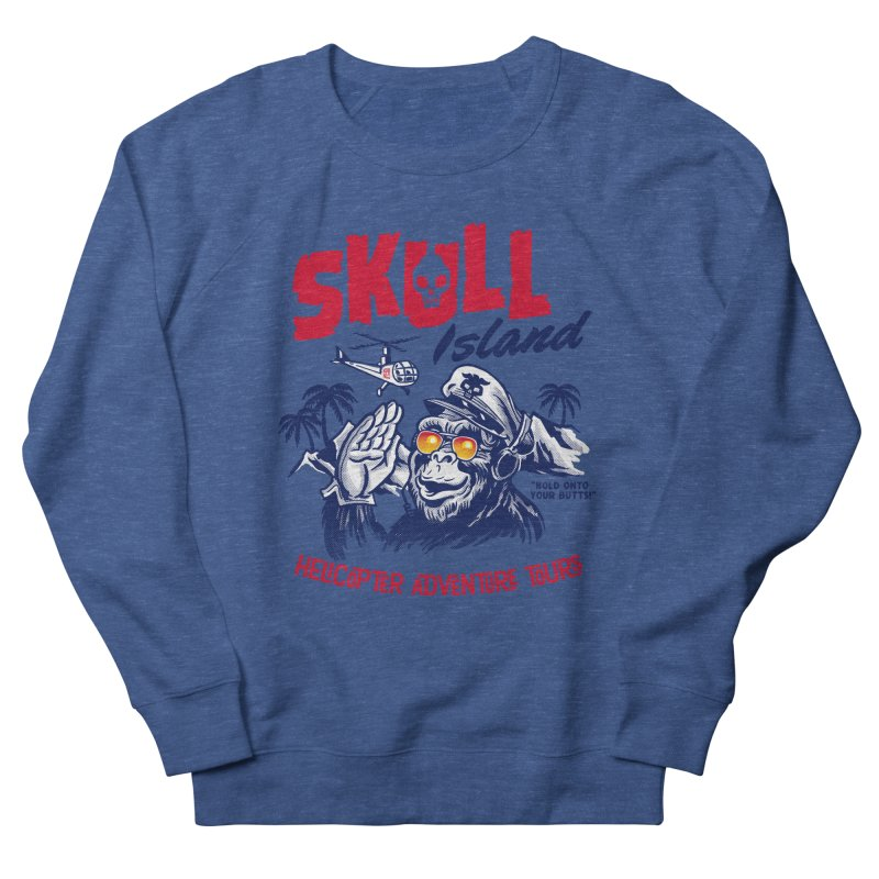 Skull Island Helicopter Adventure Tours Women's Sweatshirt by Gimetzco's Damaged Goods