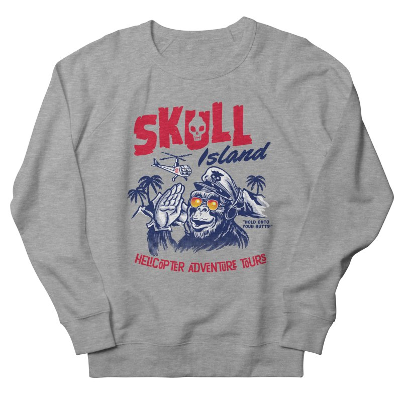 Skull Island Helicopter Adventure Tours Men's Sweatshirt by Gimetzco's Artist Shop
