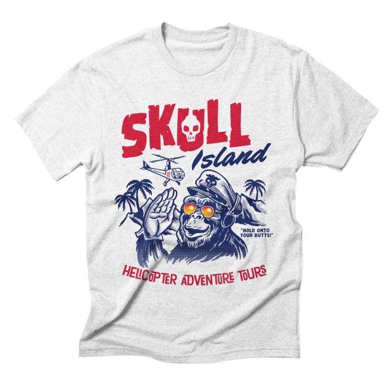 Skull Island Helicopter Adventure Tours Men's Triblend T-shirt by Gimetzco's Artist Shop