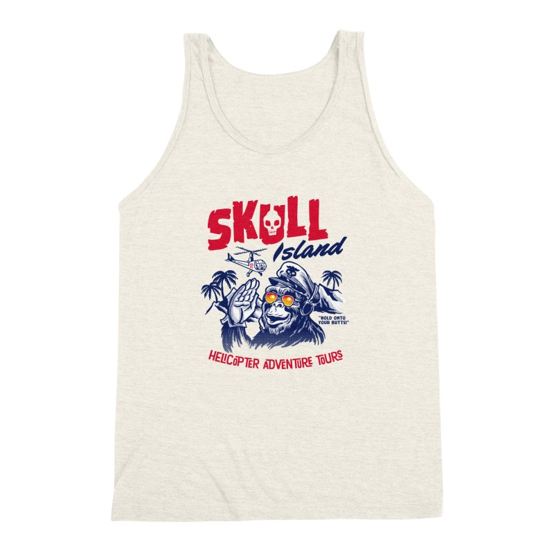 Skull Island Helicopter Adventure Tours Men's Triblend Tank by Gimetzco's Artist Shop