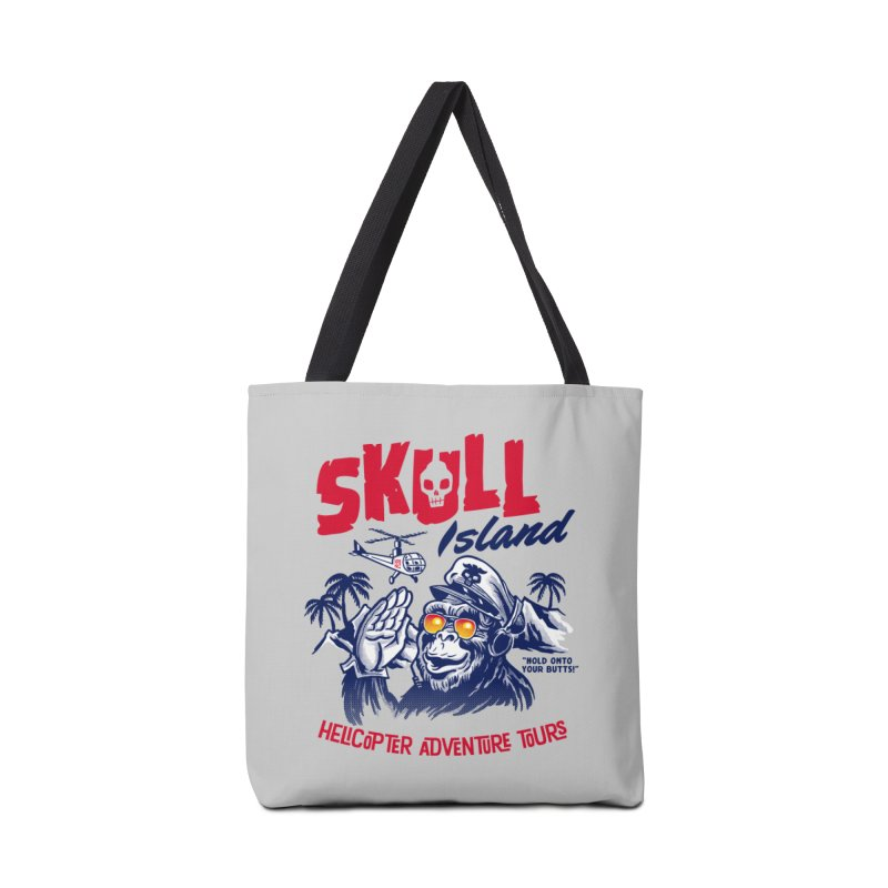 Skull Island Helicopter Adventure Tours Accessories Bag by Gimetzco's Damaged Goods