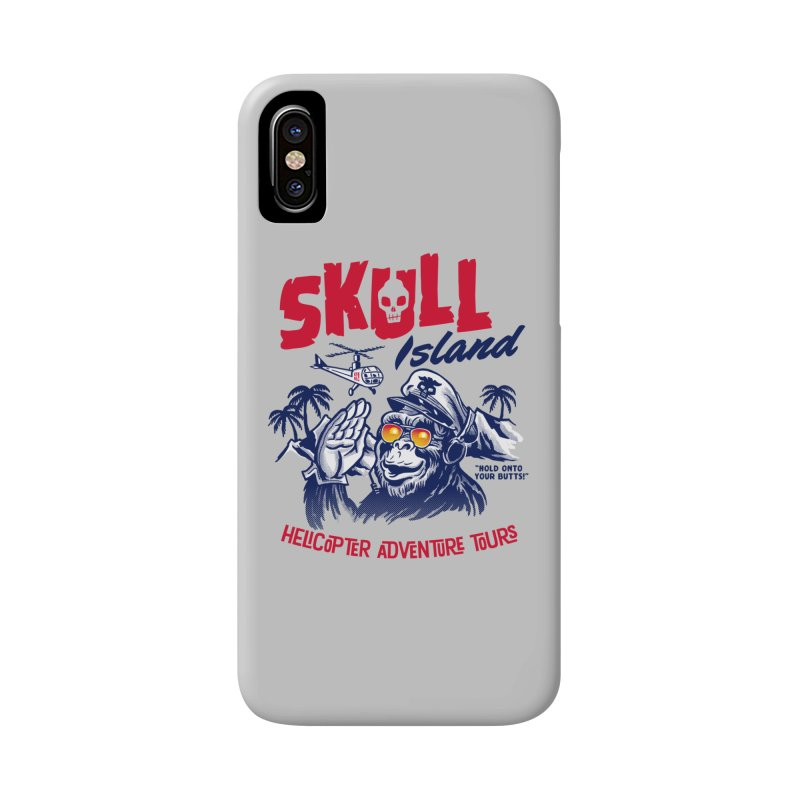 Skull Island Helicopter Adventure Tours Accessories Phone Case by Gimetzco's Artist Shop