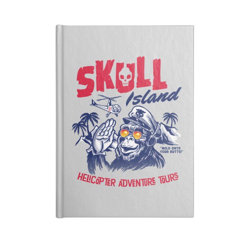 Skull Island Helicopter Adventure Tours Accessories Notebook by Gimetzco's Damaged Goods