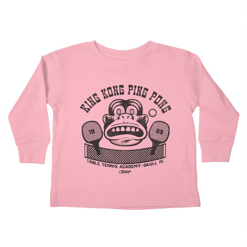King Kong Ping Pong Kids Toddler Longsleeve T-Shirt by Gimetzco's Damaged Goods