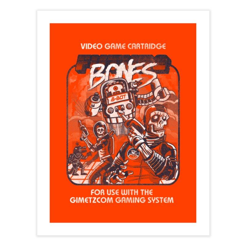 Future Bones Home Fine Art Print by Gimetzco's Damaged Goods