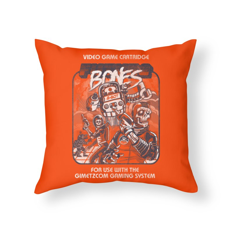 Future Bones Home Throw Pillow by Gimetzco's Damaged Goods