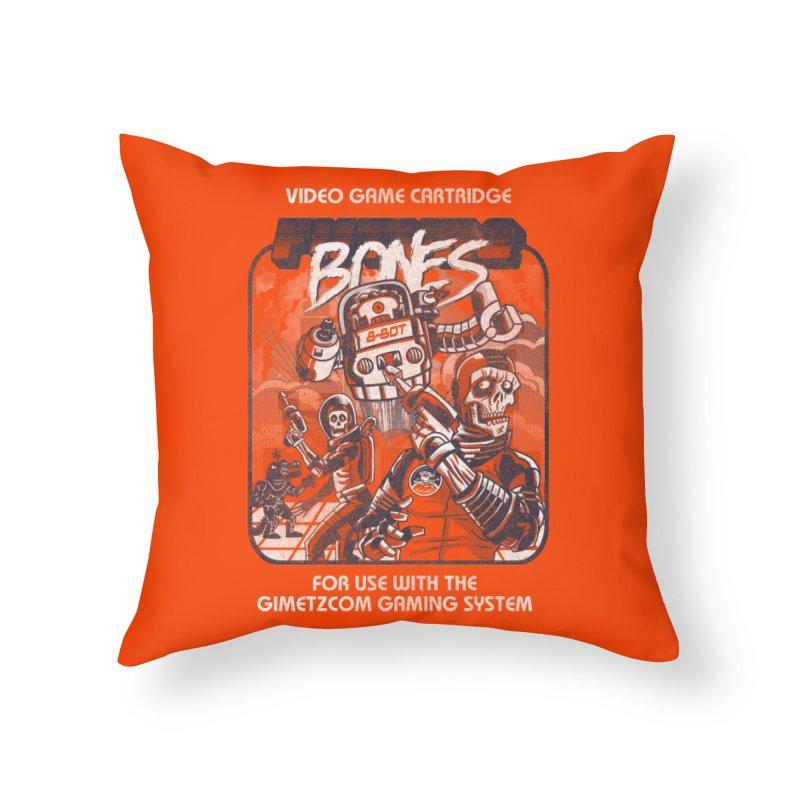 Future Bones Home Throw Pillow by Gimetzco's Damaged Goods