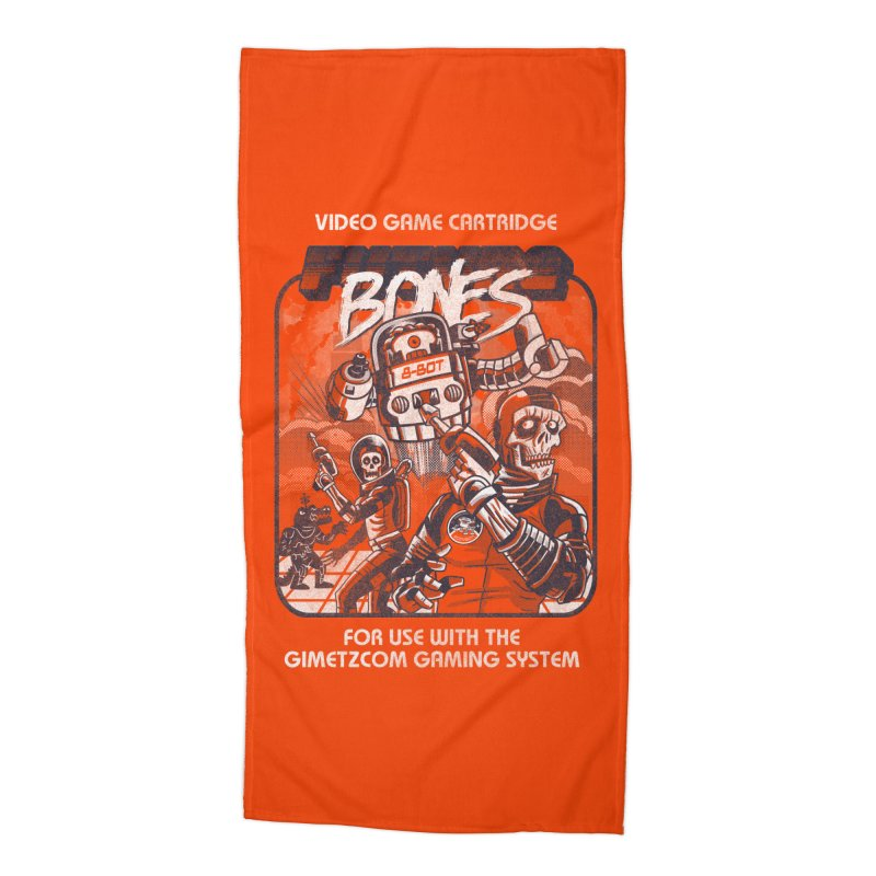 Future Bones Accessories Beach Towel by Gimetzco's Damaged Goods