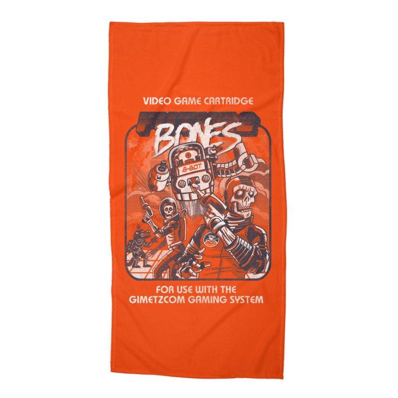 Future Bones Accessories Beach Towel by Gimetzco's Damaged Goods