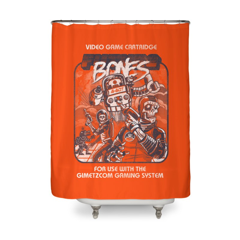 Future Bones Home Shower Curtain by Gimetzco's Damaged Goods