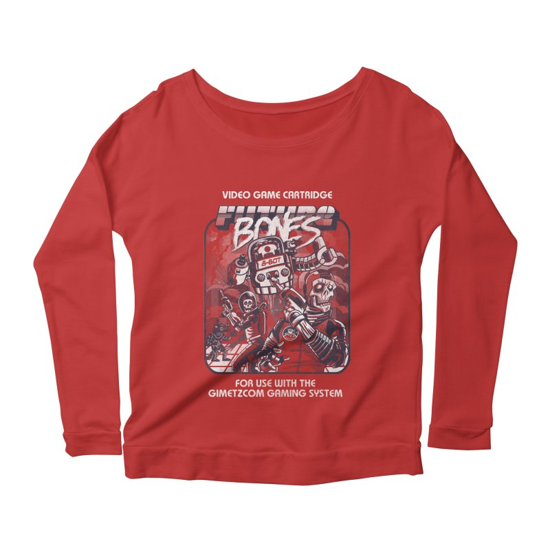 Future Bones Women's Longsleeve Scoopneck  by Gimetzco's Artist Shop