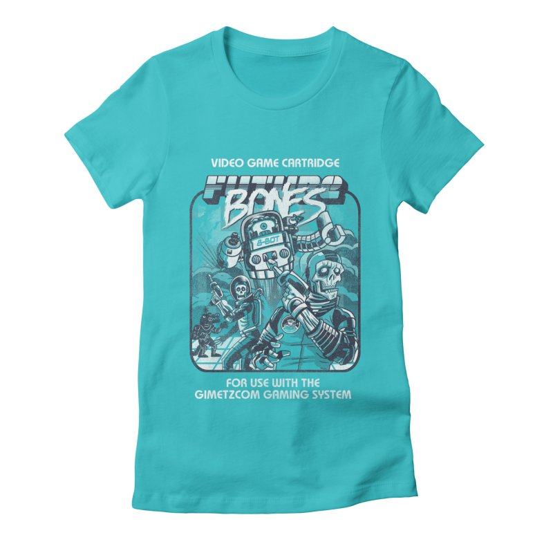 Future Bones Women's Fitted T-Shirt by Gimetzco's Damaged Goods