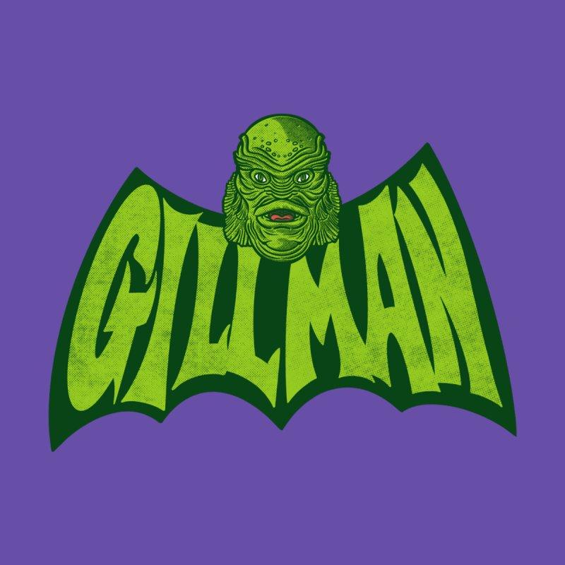 Gillman in a bat shape Men's T-Shirt by Gimetzco's Damaged Goods