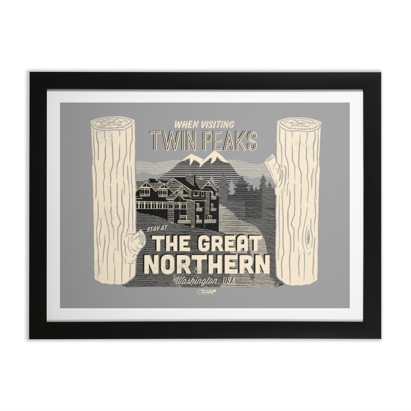 the great northern Home Framed Fine Art Print by Gimetzco's Damaged Goods