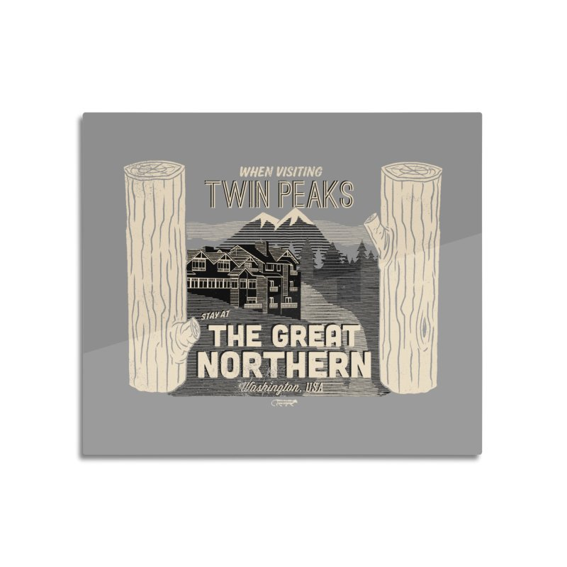 the great northern Home Mounted Aluminum Print by Gimetzco's Damaged Goods
