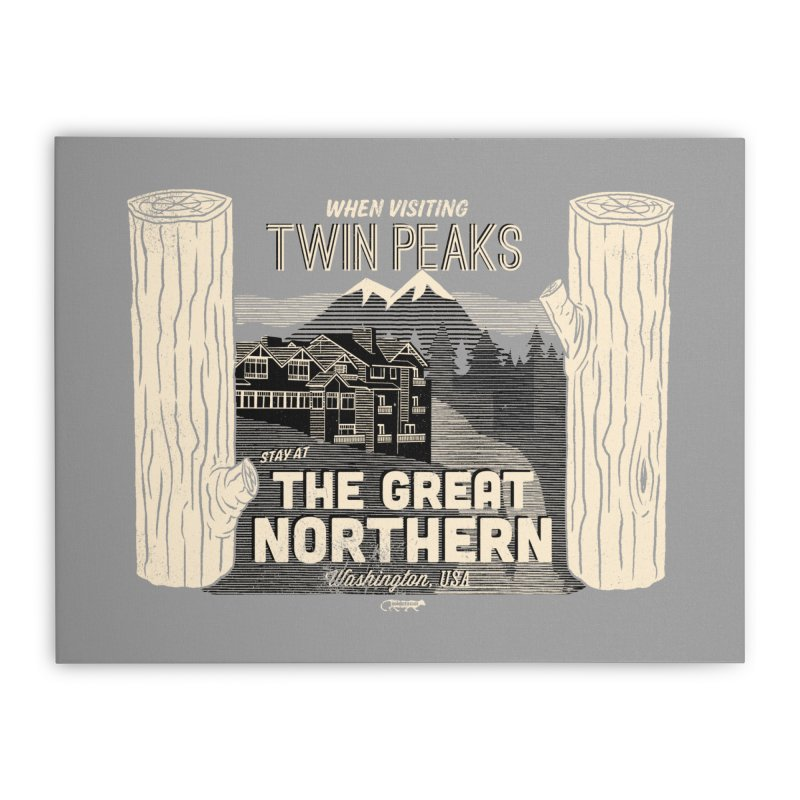 the great northern Home Stretched Canvas by Gimetzco's Damaged Goods