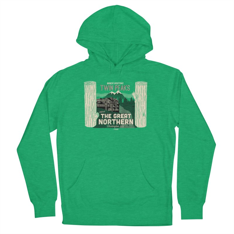 the great northern Women's Pullover Hoody by Gimetzco's Damaged Goods