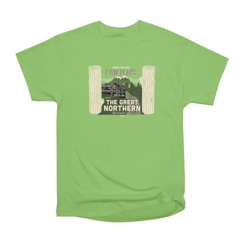 the great northern Men's Heavyweight T-Shirt by Gimetzco's Damaged Goods