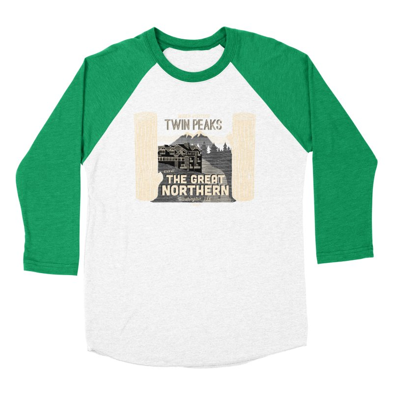 the great northern Women's Baseball Triblend T-Shirt by Gimetzco's Damaged Goods