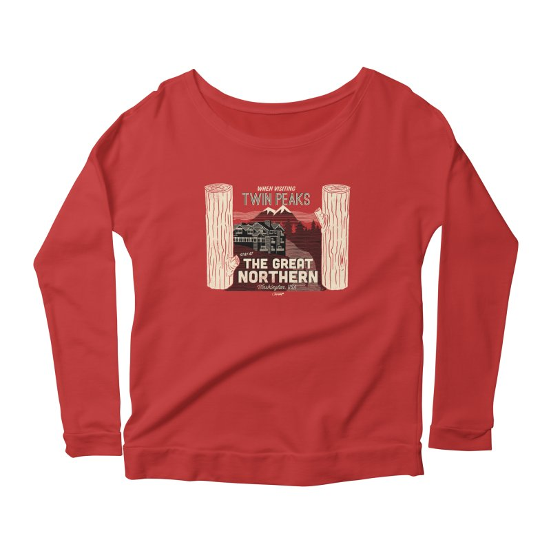 the great northern Women's Longsleeve Scoopneck  by Gimetzco's Artist Shop
