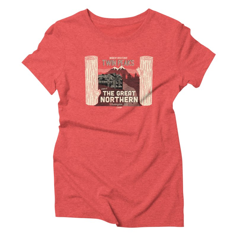 the great northern Women's Triblend T-shirt by Gimetzco's Artist Shop