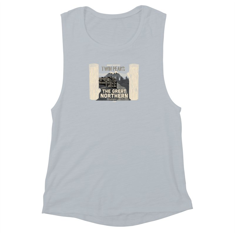 the great northern Women's Muscle Tank by Gimetzco's Damaged Goods