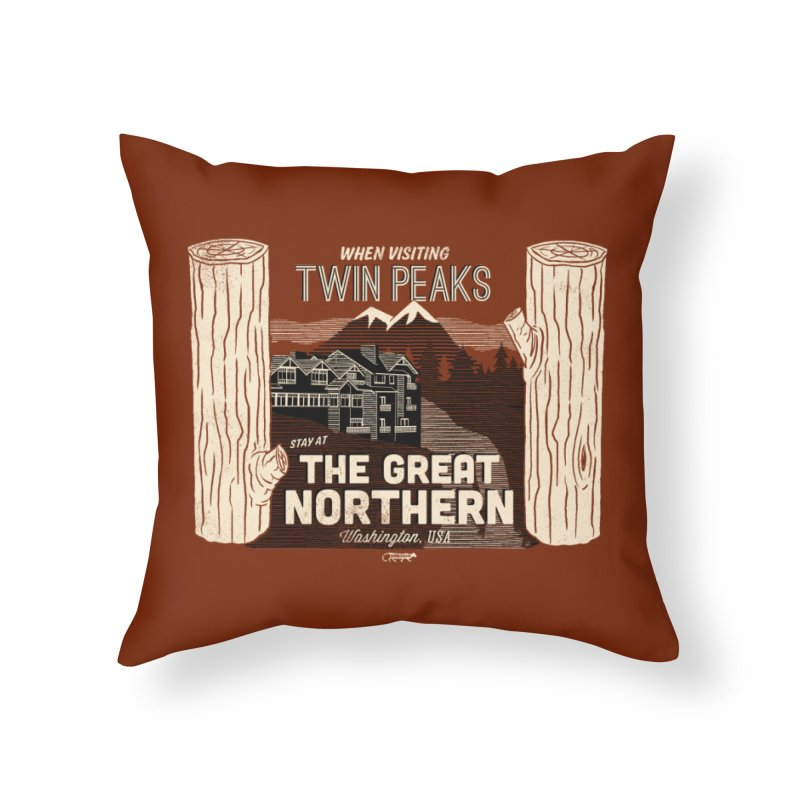 the great northern Home Throw Pillow by Gimetzco's Damaged Goods