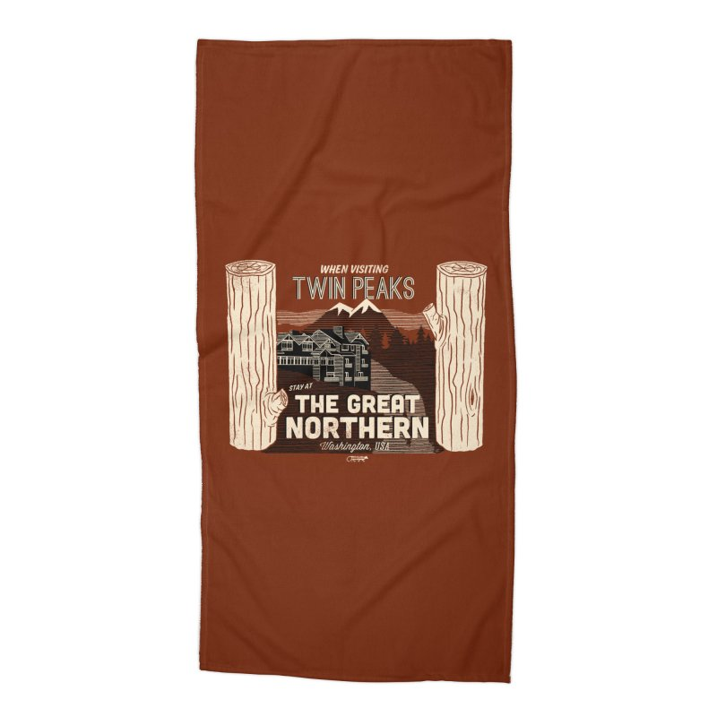 the great northern Accessories Beach Towel by Gimetzco's Artist Shop