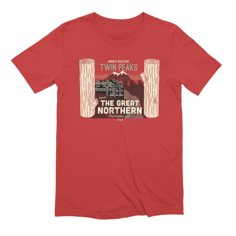 the great northern Men's Extra Soft T-Shirt by Gimetzco's Damaged Goods